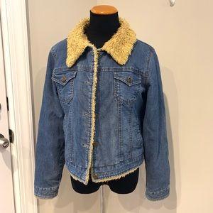 Vintage clash denim Sherpa jacket